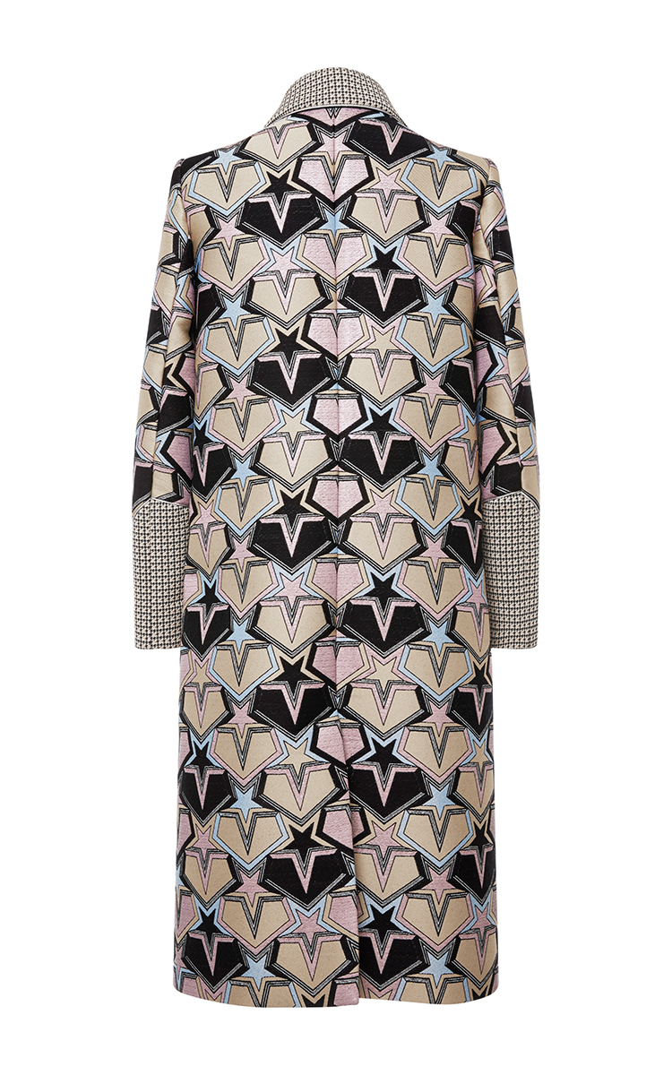 Loading. Loading. FULL SCREEN. Click Product to Zoom. Mary  KatrantzouStardom Jacquard Coat. No Longer Available. Color. multi