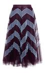 Clementine Chevron Tulle Skirt by MARY KATRANTZOU Now Available on Moda Operandi