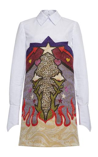 Medium mary katrantzou multi steal print jacquard shirt dress
