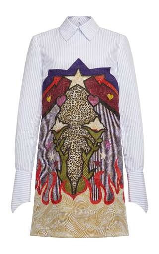 Medium mary katrantzou multi steal print jacquard shirt dress
