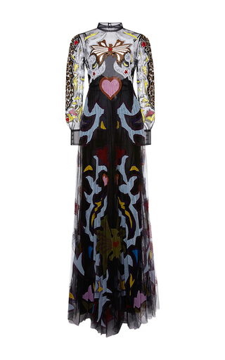 Medium mary katrantzou multi sundance appliqued tulle gown