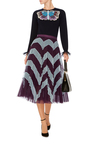 Tuco Embroidered Cashmere Knit by MARY KATRANTZOU Now Available on Moda Operandi