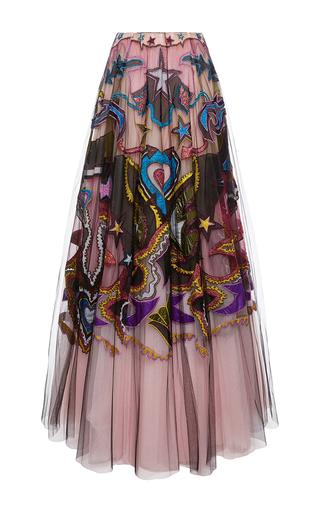 Medium mary katrantzou multi petroleum embroidered tulle skirt