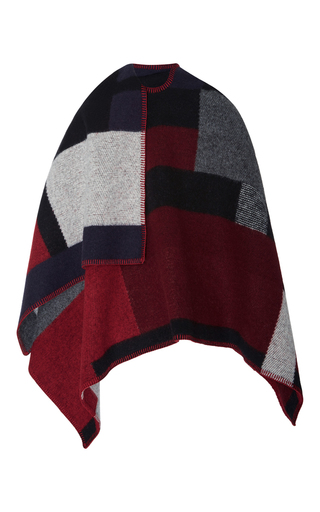 Color Block Poncho by BURBERRY Now Available on Moda Operandi