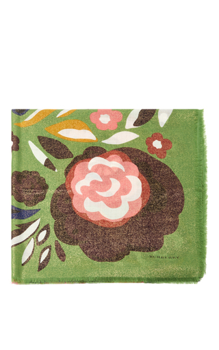 Floral Silk Scarf by BURBERRY Now Available on Moda Operandi