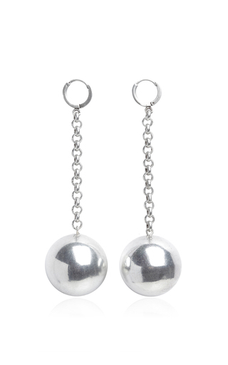 Medium isabel marant silver silver ball drop earrings