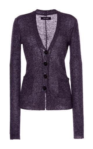 Medium isabel marant dark grey camelia longline fine knit cardigan