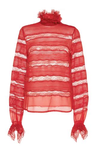 Medium isabel marant red sondra layered lace blouse