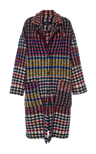 Medium isabel marant plaid dallan longline oversized coat