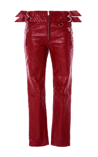 Medium isabel marant red red bonnya slim fit trousers