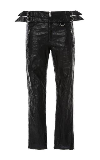 Medium isabel marant black black bonnya slim fit trousers