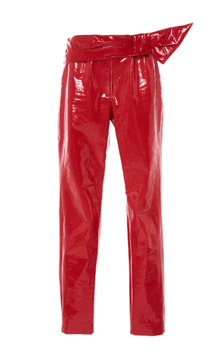Medium isabel marant red red alex slim fit trousers