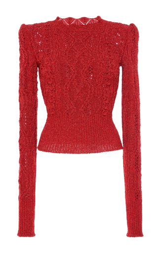 Medium isabel marant orange debie aran knit jumper