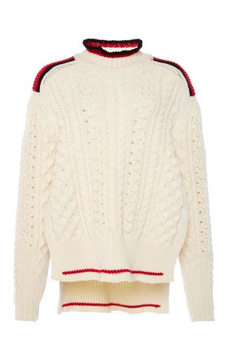 Medium isabel marant neutral edison short aran knit jumper