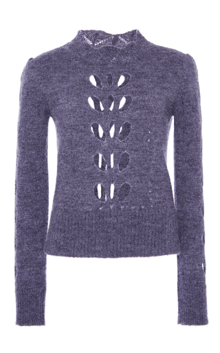 Medium isabel marant dark grey grey ilia puff shoulder knit