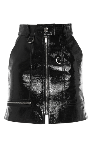 Medium isabel marant black lynne front zip skirt