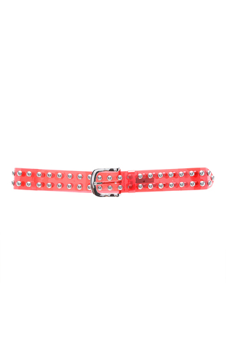Medium isabel marant red ceinture bijoux stud belt