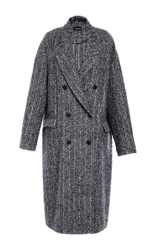 Medium isabel marant dark grey grey habra masculine longline coat