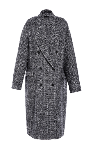 Medium isabel marant dark grey grey habra masculine longline coat