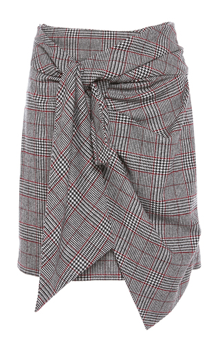 Medium isabel marant red kim side knot skirt