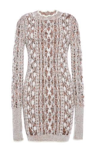 Medium isabel marant tan eda aran knit dress