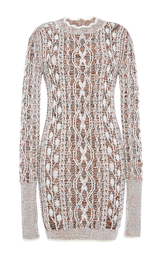Medium isabel marant tan eda aran knit dress