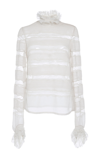Medium isabel marant off white sondra layered lace blouse  3