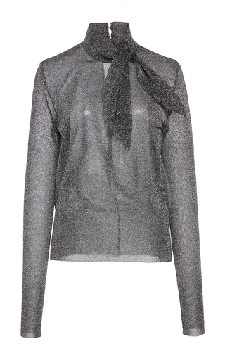 Medium isabel marant silver adil collar tie jumper