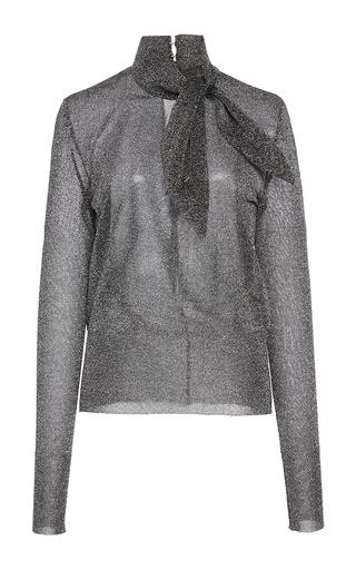 Medium isabel marant silver adil collar tie jumper
