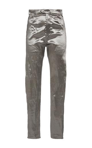 Medium isabel marant silver silver nevada slim fit shiny trousers