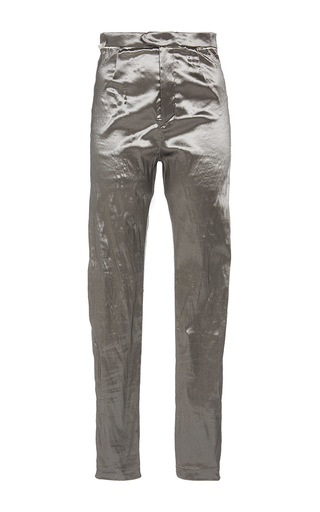 Medium isabel marant silver silver nevada slim fit shiny trousers