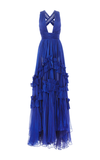 Medium maria lucia hohan blue rianna mousseline dress