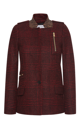Medium sonia rykiel print houndstooth bicolored jacket