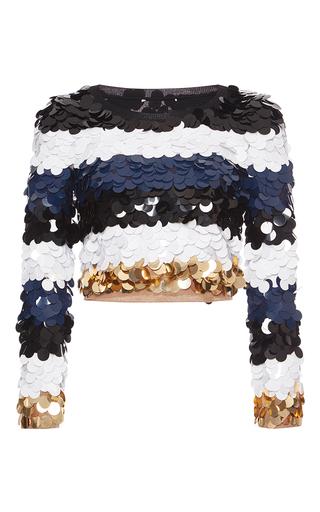 Medium sonia rykiel multi sequin embellished pullover
