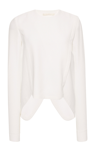 Medium antonio berardi white long sleeve asymmetrical top