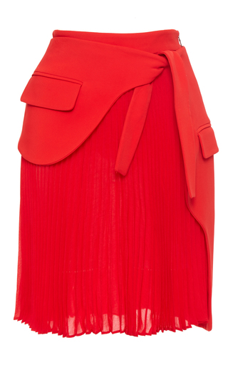 Medium antonio berardi red tie waist mini skirt