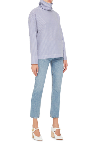 Cotton Poplin Turtleneck by ROSIE ASSOULIN Now Available on Moda Operandi