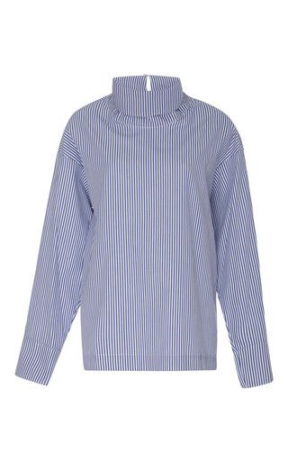 Medium rosie assoulin stripe cotton poplin turtleneck