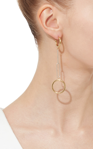 Gold And Silver Chain Link Earrings by ISABEL MARANT Now Available on Moda Operandi