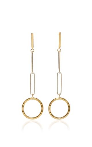 Medium isabel marant metallic gold and silver circle earrings