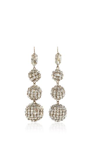 Medium isabel marant silver silver crystal ball drop earrings