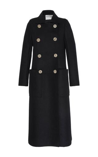 Medium maison rabih kayrouz black double breasted long wool coat