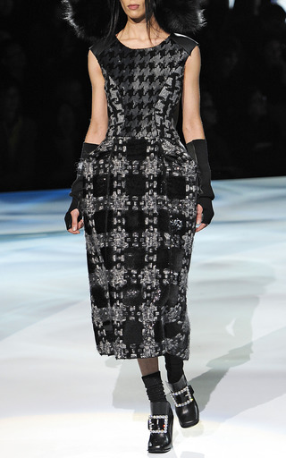 Oversize Plaid Structured Sheath Dress by MARC JACOBS for Preorder on Moda Operandi