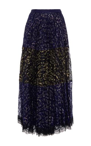 Medium saloni navy karen pleated skirt