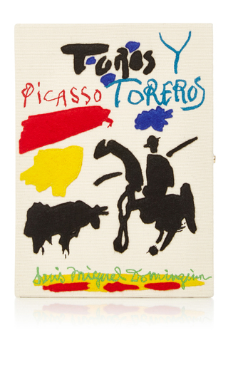 Picasso's 'toreros' Clutch by OLYMPIA LE-TAN Now Available on Moda Operandi
