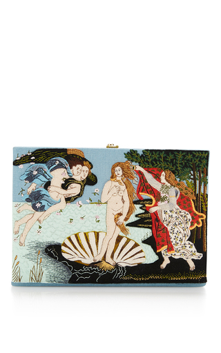 Medium olympia le tan blue botticelli clutch