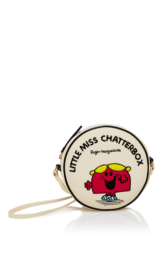 Medium olympia le tan off white little miss chatterbox round crossbody