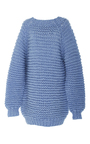 Mock Neck Knit Sweater by I LOVE MR. MITTENS Now Available on Moda Operandi