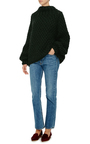 Moss Stitch Turtleneck Sweater by I LOVE MR. MITTENS Now Available on Moda Operandi
