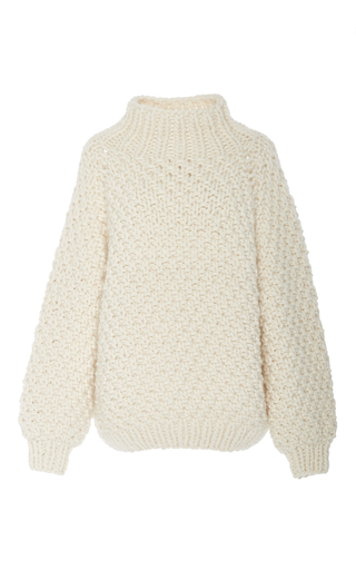 Medium i love mr mittens neutral moss stitch turtleneck sweater 2